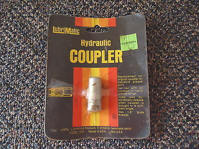 """Vintage """" NOS """" Lubrimatic Hydraulic Coupler """" NIP """" GREAT COLLECTABLE ITEM """""""