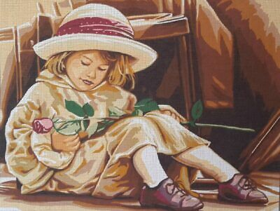 Child With A Rose - Printed Tapestry