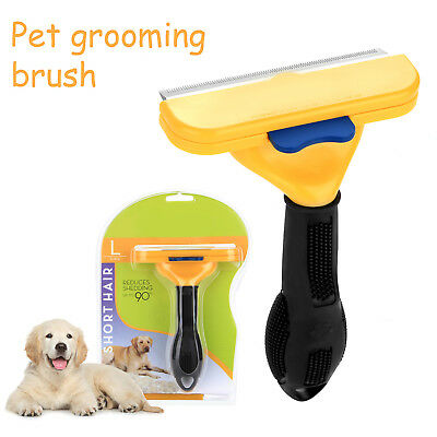 Pet Grooming Brush DeShedding Tool Comb Trimmer Dog Cat Hair Fur Removal Rake