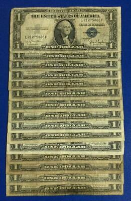 1935D-1957B $1 Blue SILVER Certificates x860 Set of 15 Assorted! Rough Currency