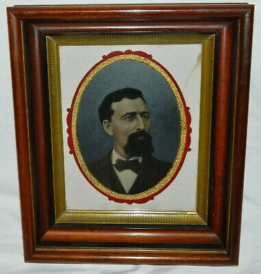 Victorian EASTLAKE Walnut Shadow Box Frame Fancy Matt FULL PLATE Painted TINTYPE