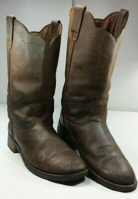 17f1b29b0be REDHEAD MEN'S IRON Horse Mid-Calf Work Boots Brown Leather Size 12 M
