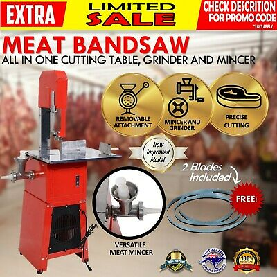 "Meat Cutting Band Saw 10"" with meat mincer Bandsaw - LOCAL PICKUP **MELBOURNE**"