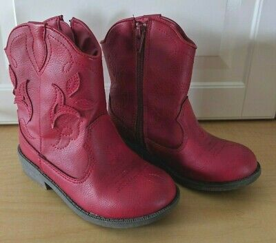 24f3970bc8c NEW GIRLS COWBOY Boots Size 5 Cat & Jack Red Boots... Nice ...