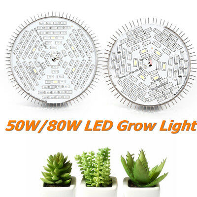 50W 80W LED Grow Light Kits Full Spectrum for Hydroponic Medical Plant Veg&Bloom