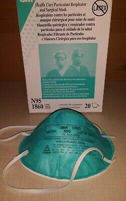 3M health care particulate respirator and surgical mask N95-1860s box of 20 NEW