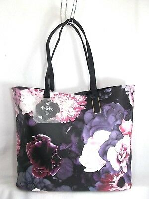 GORGEOUS ion Large FLORAL Holiday Bag Shopper Shoulder Tote Purse Overnight NEW