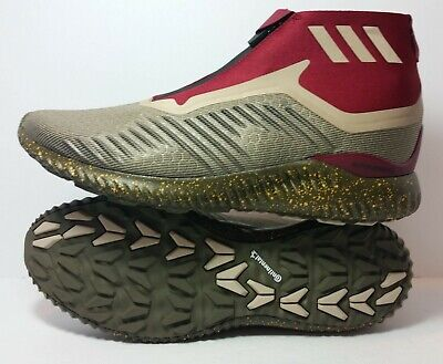 25e18ab1b53d3 Adidas men s running ALPHABOUNCE 5.8 zip shoes collegiate burgundy BY4237
