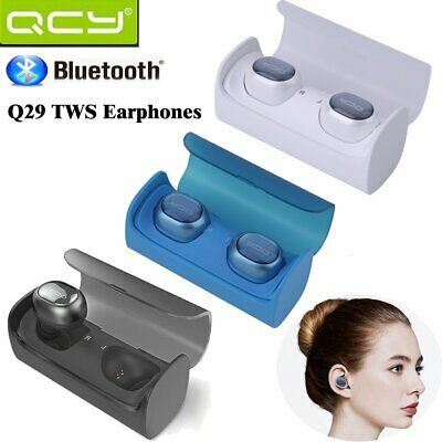 True TWS QCY Q29 Bluetooth Wireless Stereo Headset Inear Earbuds Headphone LOT Y