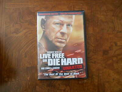 Live Free Or Die Hard (DVD 2007 Unrated Widescreen) Bruce Willis