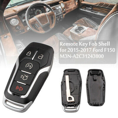 Remote Key Fob Uncut Shell Case For 2015-2017 Ford F-150 Explorer Edge Fusion