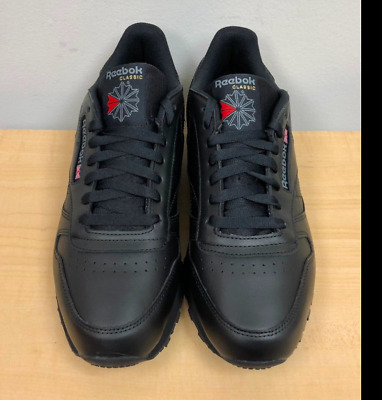 900056565 REEBOK MENS CLASSIC LEATHER Black/Black -116- ATHLETIC - $47.99 ...
