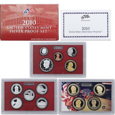2010-S United States Mint SILVER PROOF SET 14-Coins w/Box + OGP