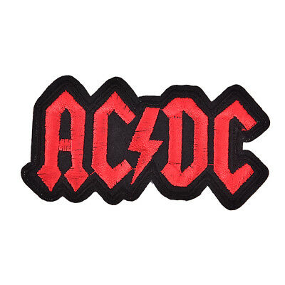 AC/DC Iron On Patches Embroidered PatchFor Cloth Cartoon BadgeGarment AppliqueIA