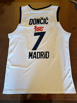 2a2a428a565 Luka Doncic Real Madrid Euro League Basketball Jersey Mens Replica Extra  Large