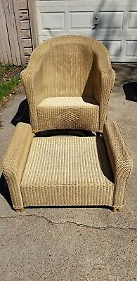 Lloyd Loom LLOYD FLANDERS Wicker Rocking Chair and Ottoman - Nice