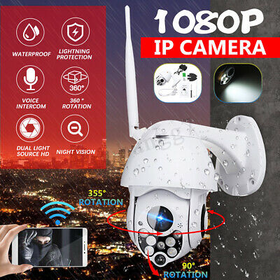 1080P Wireless Wifi Panoramic Night Vision IP IR CCTV Outdoor Camera Pan Tilt