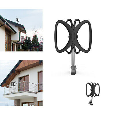Best 360° Reception Omni-directional Amplified HD TV Antenna Up 180Mile W/pole