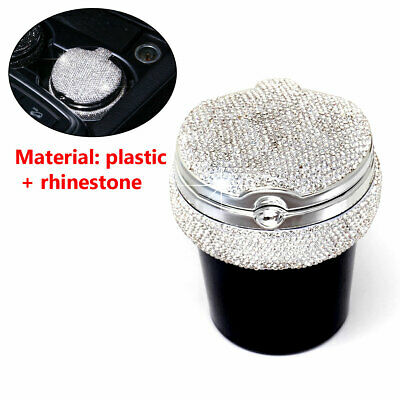 Bling Car LED Light Ashtray Auto Travel Cigarette Ash Holder Cup With Lid