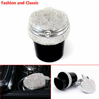 Diamond Car Home office LED Light Ashtray Auto Travel Cigarette Ash Holder Cup