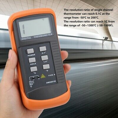 Single Channel K Type Digital Thermocouple Sensor thermometer -50-1300°C SH