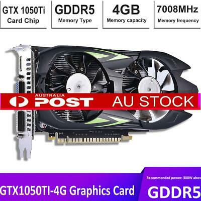 Independent 4GB Graphics Game Card Video Card GTX1050TI GDDR5 128Bit Dual Fan