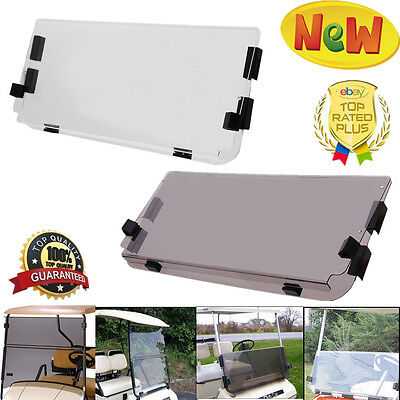 CLUB CAR DS Tinted Clear Fold Down Acrylic Windshield 82 ... Golf Cart Windshield Ebay on vehicle windshield, bus windshield, go cart windshield, golf club windshield, car windshield, atv windshield, utv windshield,