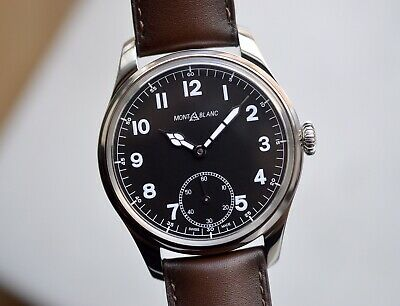 481bff4101c Montblanc 1858 Manual Small Second Stainless Steel (Vintage Minerva Tribute)