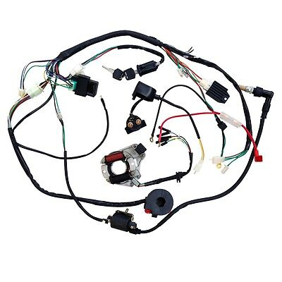 For 50 110 125cc Full Electric Start Engine Wiring Harness Loom Atv