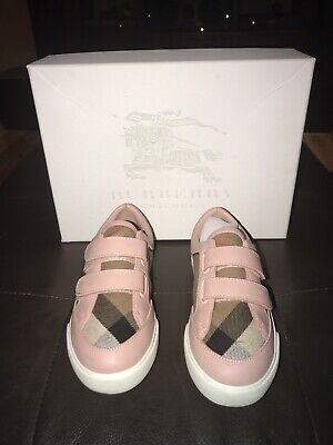 4e9d806d07ca Burberry Mini Heacham Check Print Shoes Sneakers Kids Children Size 10.5   150