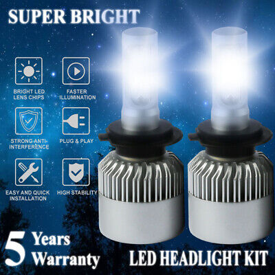 H7 COB LED Headlight Kit 1800W 280000LM Hi/Low Beam Bulb 6500K White High Power