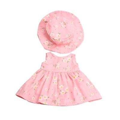 """Fancy Clothes Outfit for 18"""" American Girl Zapf Baby Born Dolls Dress Hat"""