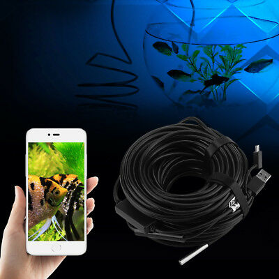 20m 5.5mm USB Endoscope with 720P Waterproof Camera for Pipe Car Inspection SH