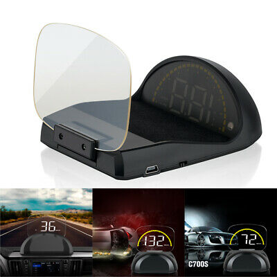 C700S Auto Digital HUD Head Up Display OBD2 OBDII GPS Geschwindigkeit Tachometer