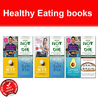 Healthy Eating books set Doctor's Kitchen, How Not To Die, Food Medic, Salt Fix