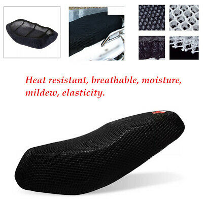 Motorcycle Black 3D Seat Cover Net Waterproof Heat Insulation Sleeve Breathable