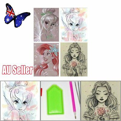 5D Diamond Painting Cross Stitch Sketched Drawing Disney Characters Cartoon NW