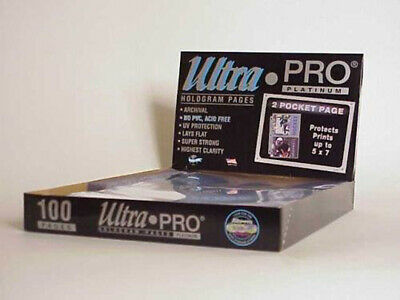 Ultra Pro 100 2-Pocket Platinum Pages - 5 x 7