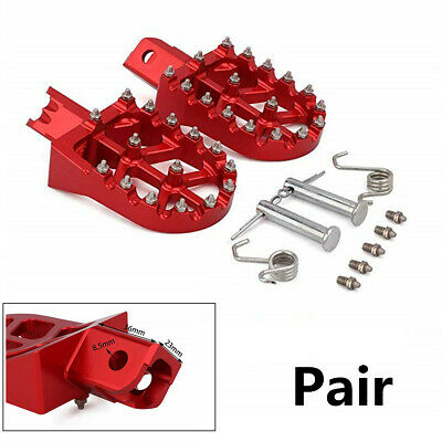 For CRF50 CRF70 XR50 PW50 KLX110 Pair Red CNC Aluminum Pit Bike Rests Footpegs