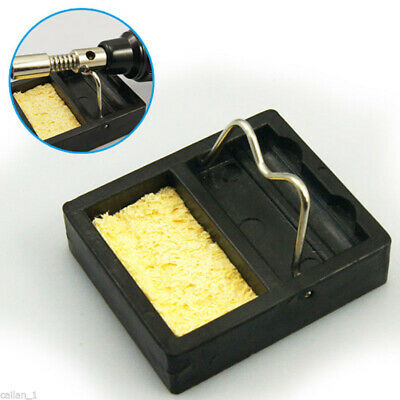 1Pc Mini Soldering Iron Gun Stand Holder Support Base Station &Solder Sponge Lot