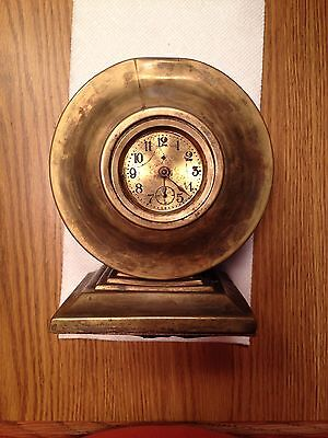 Small Antique Ansonia Desk, Shelf, Or Mantel Clock, Dated Pat D May 3Rd 1892