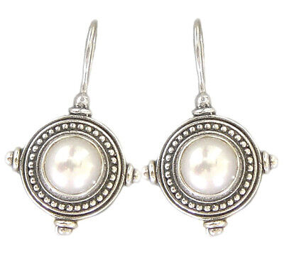Gerochristo 1245 ~ Sterling Silver - Byzantine-Medieval Earrings with Pearls