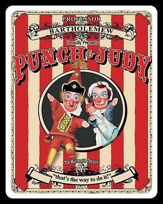 Punch & Judy Show Seaside Holiday Resort Blackpool Metal Sign Tin Plaque 1395