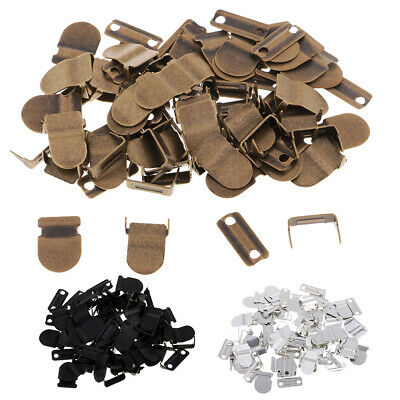 60 Sets No Sew-On Hook Eye Closures Clip Clasp Fasteners DIY Clothing Decor