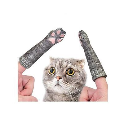 Accoutrements Cat Paws Finger Puppet - Latex  kitty legs Set of 2