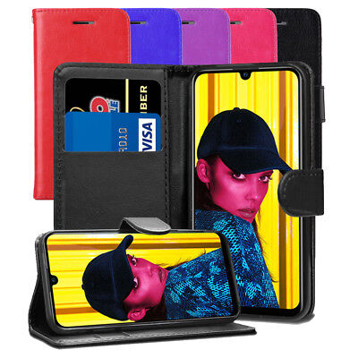 For Huawei Honor 10 Lite Case - Premium Leather Wallet Flip Case Cover + Screen