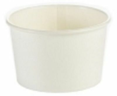 25 x Heavy Duty Soup Containers & Lids Disposable Takeaway Ice Cream Tubs 8oz