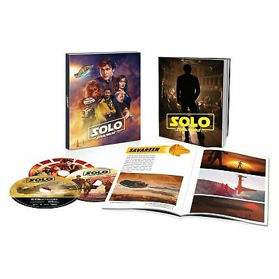 Solo: A Star Wars Story  4K UHD + Blu-ray + Digital + 40 Page Gallery Book