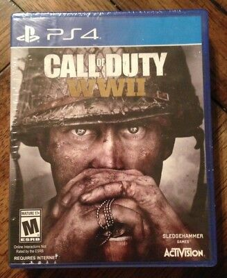 Call of Duty: WWII (Sony PlayStation 4, 2017) with DOG TAG ***SEALED