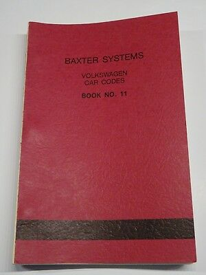 Vintage Baxter Code Books For Foreign Cars -  Locksmith - Restoration Shop